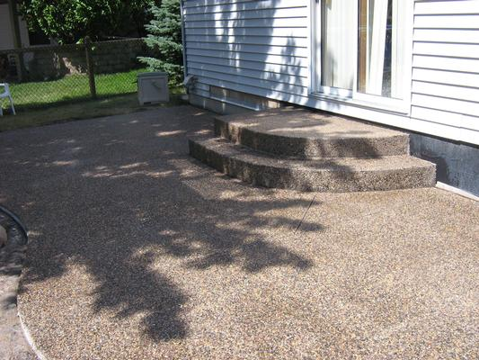 Exposed Aggregate Patio And Steps By Schumm Concrete Lakeville MN