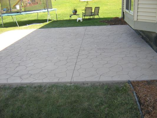Lovely Stamped Pattern Concrete Patio By Schumm Concrete